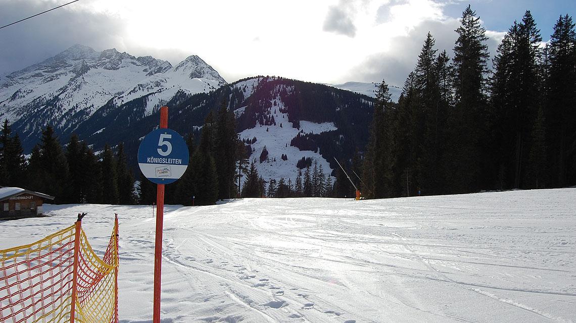 Zillertal-Königsleiten-Ski-Piste